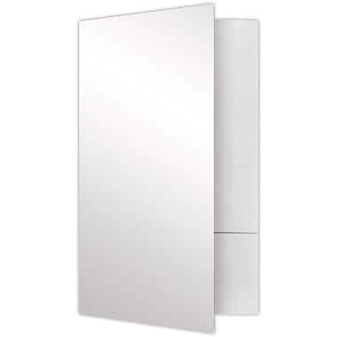 LUX Legal Size Folders - Standard Two Pockets 250/Pack, White Gloss (LF-118-SG12-250)