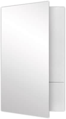 LUX Legal Size Folders - Standard Two Pockets 25/Pack, White Gloss (LF-118-SG12-25)
