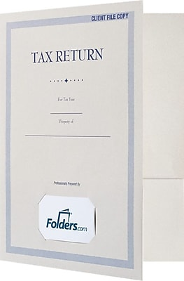 LUX 9 x 12 Tax Folders, Standard Two Pocket w/ Front Cover Card Slit, Natural White, 250/Pack (TAX912NF80250)