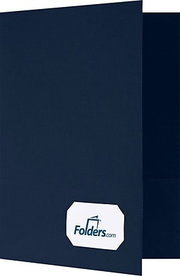LUX 9 x 12 Presentation Folders - Standard Two Pockets 250/Pack, Blue Linen (OR145DDBLU10025)