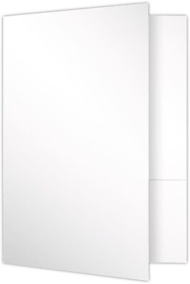 LUX 9 x 12 Presentation Folders, Standard Two Pocket, 25/Pack, White Smooth (SF-101-AW100-25)