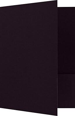 LUX 9 x 12 Presentation Folders - Standard Two Pocket 25/Pack, Dark Purple Linen (SF-101-DE100-25)