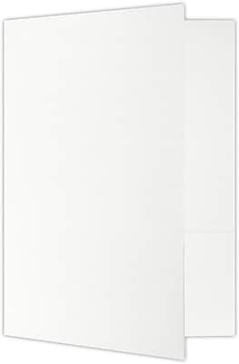 LUX 9 x 12 Presentation Folders - Standard Two Pocket 500/Pack, White Linen (PF-100WLI-500)