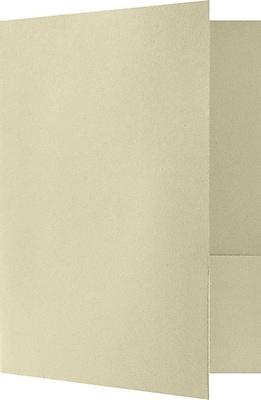 LUX 9 x 12 Presentation Folders, Standard Two Pocket, 80lb. Sandstone Felt, 50/Pack (SF-101-CS80-50)