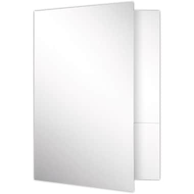 LUX 9 x 12 Presentation Folders - Standard Two Pocket 25/Pack, White Gloss (SF-101-SG12-25)