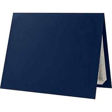 "LUX Certificate Holders, 9 1/2"" x 11"", Dark Blue Linen, 25/Pack (CHEL185DDBLU100)"