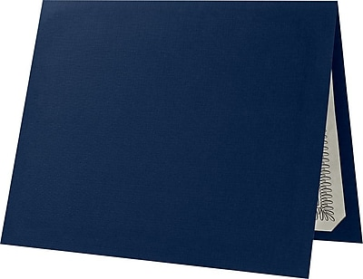 LUX Certificate Holders 500/Pack, Dark Blue Linen (L185DDBLU100500)