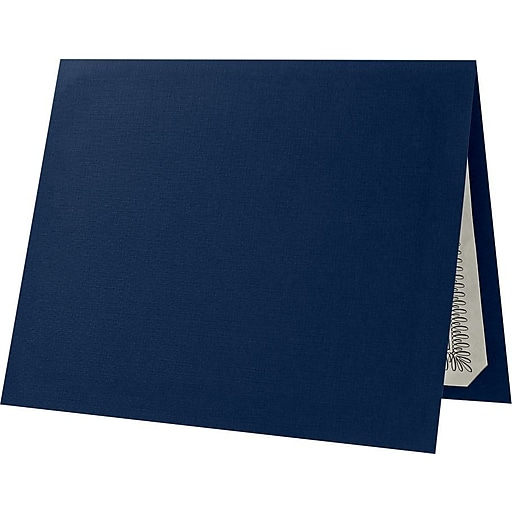 lux certificate holders 50 pack dark blue linen el185ddblu10050