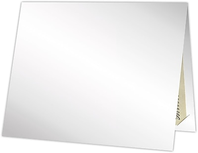 LUX Certificate Holders 25/Pack, White Gloss (CHEL185SG1225)