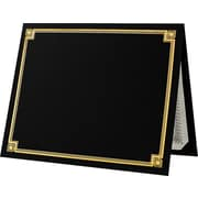 "LUX Certificate Holders, 9 1/2"" x 11"", Black with Gold Foil, 50/Pack (L185DDBLK100F50)"