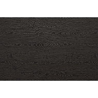LUX A9 Flat Card (5 1/2 x 8 1/2) 500/Pack, Brasilia Black Woodgrain (4060-C-S04-500)