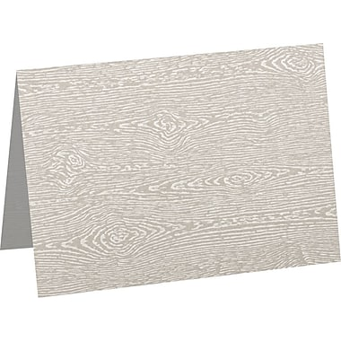 LUX A7 Folded Card (5 1/8 x 7) 50/Pack, Brasilia Gray Woodgrain (5040-C-S05-50)
