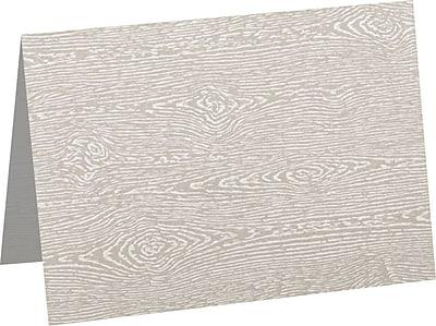 LUX A7 Folded Card (5 1/8 x 7) 50/Pack, Brasilia Gray Woodgrain (5040-C-S05-50)
