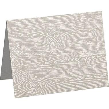 LUX A2 Folded Card (4 1/4 x 5 1/2) 1000/Pack, Brasilia Gray Woodgrain (5020-C-S05-1000)