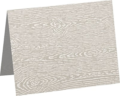 LUX A1 Folded Card (3 1/2 x 4 7/8) 250/Pack, Brasilia Gray Woodgrain (5010-C-S05-250)