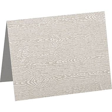 LUX A6 Folded Card (4 5/8 x 6 1/4) 250/Pack, Brasilia Gray Woodgrain (5030-C-S05-250)