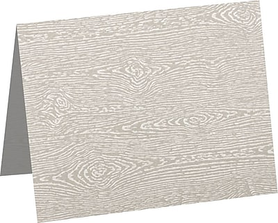 LUX A6 Folded Card (4 5/8 x 6 1/4) 50/Pack, Brasilia Gray Woodgrain (5030-C-S05-50)