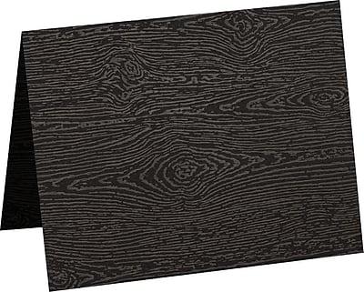 LUX A1 Folded Card (3 1/2 x 4 7/8) 500/Pack, Brasilia Black Woodgrain (5010-C-S04-500)