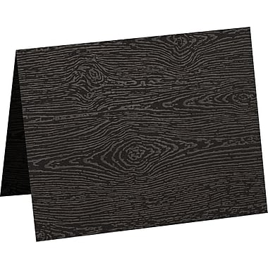 LUX A2 Folded Card (4 1/4 x 5 1/2) 50/Pack, Brasilia Black Woodgrain (5020-C-S04-50)