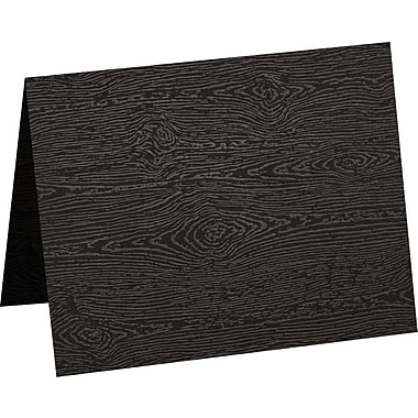 LUX A6 Folded Card (4 5/8 x 6 1/4) 1000/Pack, Brasilia Black Woodgrain (5030-C-S04-1000)