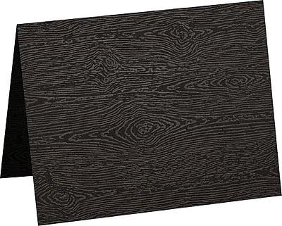 LUX A6 Folded Card (4 5/8 x 6 1/4) 250/Pack, Brasilia Black Woodgrain (5030-C-S04-250)