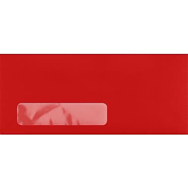 LUX #10 Window Envelopes (4 1/8 x 9 1/2) 250/Pack, Ruby Red (LUX4860W18250)