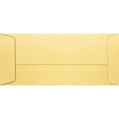 LUX #10 Open End Envelopes (4 1/8 x 9 1/2) 50/Pack, Gold Metallic (7716-07-50)