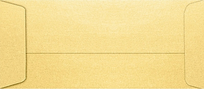 LUX #10 Open End Envelopes (4 1/8 x 9 1/2) 500/Pack, Gold Metallic (7716-07-500)