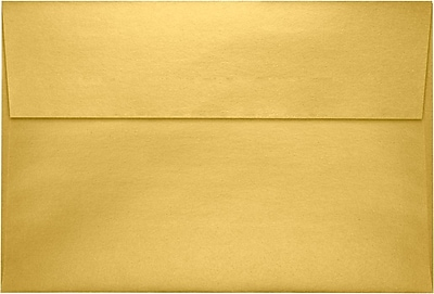 LUX A8 Invitation Envelopes (5 1/2 x 8 1/8) 50/Pack, Gold Metallic (4885-07-50)
