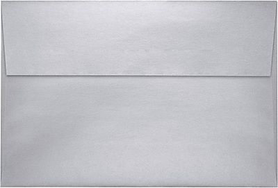 LUX A8 Invitation Envelopes (5 1/2 x 8 1/8) 50/Pack, Silver Metallic (4885-06-50)
