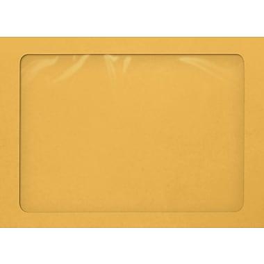 LUX A7 Full Face Window Envelopes, 28lb., Brown Kraft