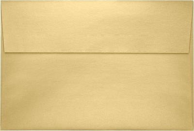 LUX A8 Invitation Envelopes (5 1/2 x 8 1/8) 500/Pack, Blonde Metallic (4885-M07-500)