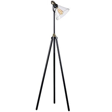 Kenroy Home Incandescent Floor Lamp Oil Rubbed Bronze Finish w/Antique Brass Accents (32858ORB)