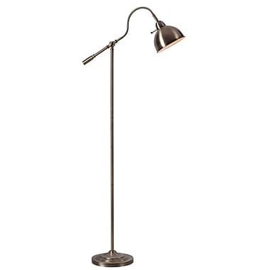 Kenroy Home Incandescent Floor Lamp Antique Brass Finish (32789AB)