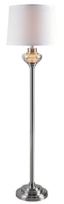 Kenroy Home Incandescent Floor Lamp Brushed Steel Finish (32881BS)