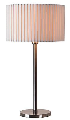 Kenroy Home Incandescent Table Lamp Brushed Steel Finish (32807BS)