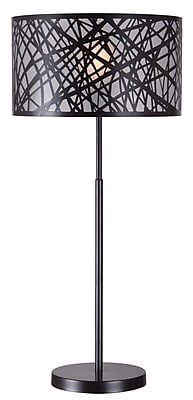 Kenroy Home Incandescent Table Lamp Black Finish (32770BL)