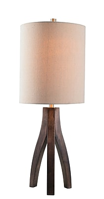 Kenroy Home Incandescent Table Lamp Oxford Brown Wood Grain Finish (32985OBWDG)