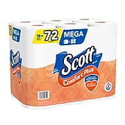 Scott Comfort Plus 1-Ply Toilet Paper, White, 18/Pack (49729)