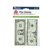 Learning Resources Play Money Smart Pack, Green, 100/Pack (LER 3670)