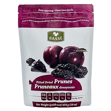 Basse Dried Fruits Pitted Prunes, 4/Pack 1 lb.