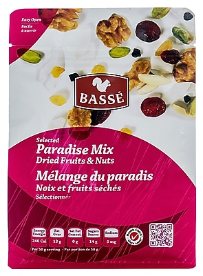 Basse Selected Paradise Mix, Dried Fruits and Nuts (7oz.) 24117236
