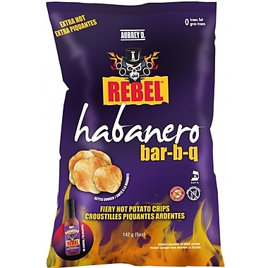 Extra Hot Habanero BBQ Style Potato Chips from Aubrey D., 12/Pack (245719)