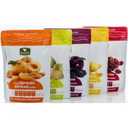Dried Fruit Healthy Pack - Pitted Prunes, Dried Figs, Apricots, Jumbo Raisins & Cranberries by Basse, 5/Pack (BDL0008-CP1)