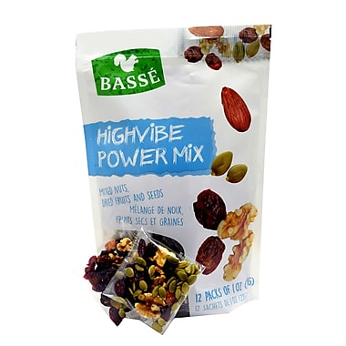 Basse Highvibe Power Mix Single Snack Packs, 4/Pack (BAG29140)