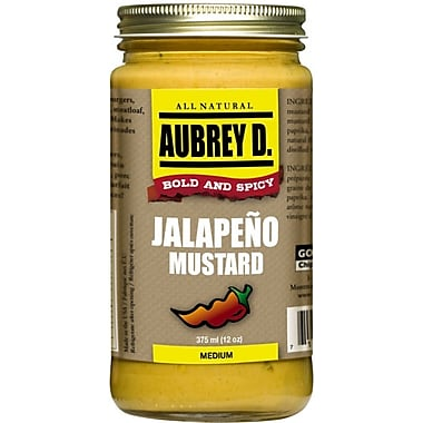 Classic Peppery Spiced Jalapeno Mustard Seasoning by Aubrey D; Cook, Dip or lick for the Meanest Mustard Flavor, 4/Pack (62002)