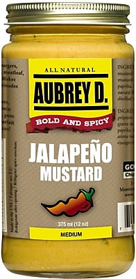Classic Peppery Spiced Jalapeno Mustard Seasoning by Aubrey D; Cook, Dip or lick for the Meanest Mustard Flavor, 2/Pack (62002)