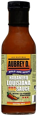 Hot and Happening, Cayenne with Mustard; Shake up Your BBQs with the Spicy, Zesty Aubrey D Louisiana BBQ Sauce, 2/Pack (255035)