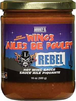 Aubrey D. Extremely Hot, Spicy, Rebel Chicken Wing Salsa Sauce, 8/Pack (259737)