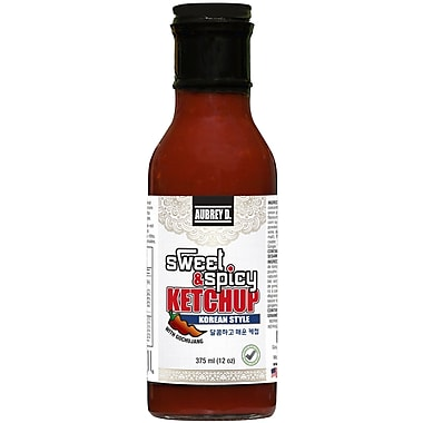 Aubrey D. Sweet & Spicy Korean Style Ketchup with Gochujang Spice, All-Natural, Vegan, Versatile Sauce, 8/Pack (255051)